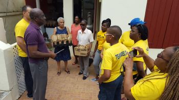 The kind deed also came on Valentine's weekend which made it extra special for persons who were paid a visit by staff of Delta who also volunteered to make the rounds delivering bowls of soup to mostly shut-ins on Tortola. Photo: Provided