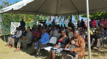 More of the attendees to the ceremony on Salt Island. Photo: VINO