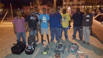 Some of the racers with their remote controlled cars and drones. Photo: VINO