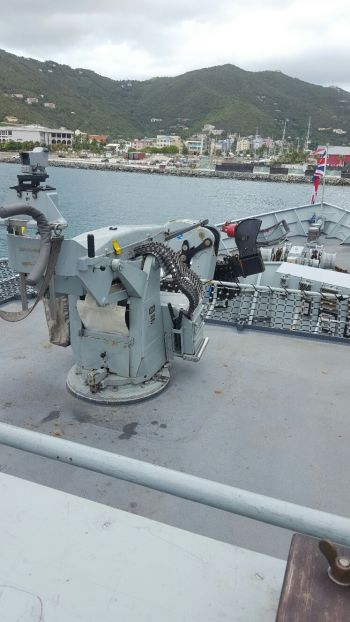 Some of the ship's artillery. Photo: VINO