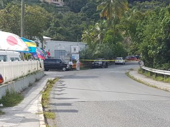 Police have cordoned off the area where the fatal shooting took place this morning, April 16, 2017. Photo: VINO