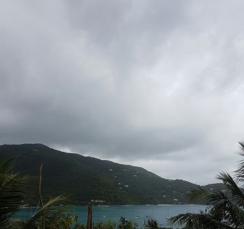 Inclement weather being experienced on Tortola today, April 17, 2017. Photo: VINO