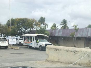 Parking in the area adjacent to the Virgin Gorda Yacht Harbour has become a traffic nightmare due to the shut out by the Yacht Harbour. Photo: Team of Reporters