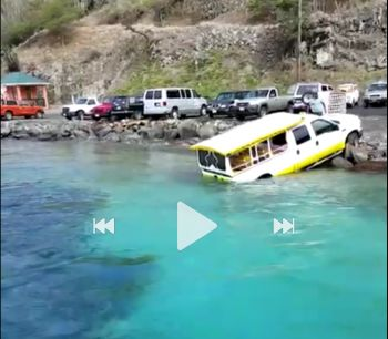 A screenshot from a video of the taxi in the water at Great Harbour, Jost Van Dyke today, June 2, 2017. Photo: Team of Reporters