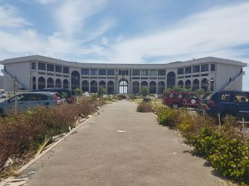 Central Administration Complex: Civil servants may now be in a state of uncertainty with Premier Dr The Honourable D. Orlando Smith now hinting that there may be layoffs. Photo: VINO/File