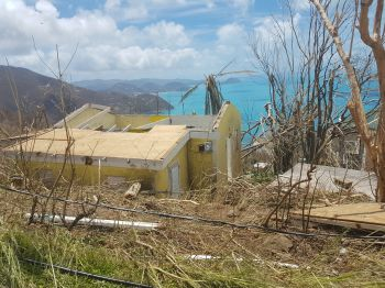 Hurricane Irma and Maria devastated the Virgin Islands in September 2017. Government is now seeking loans to aid in the recovery. Photo: VINO/File