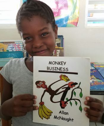 Kimoyah Smith loves to read, even though her favourite subjects are Mathematics and Science. Photo: Provided