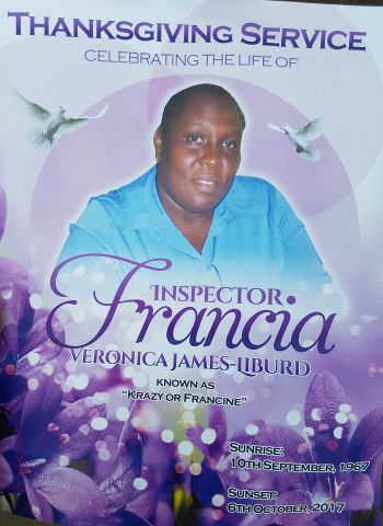Mrs Francia V. James-Liburd had served in the Royal Virgin Islands Force for some 27 years up to the time of her sudden death. Photo: VINO