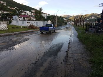 Residents are being urged to exercise caution driving across ponded roads as holes that are not visible may be deep and can cause damage to vehicles or injury. Photo: VINO