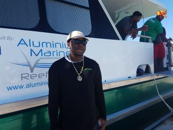 Captain of the Road Town Fast Ferry's newest vessel, Lady Caroline, Jahneal A. Hodge. Photo: VINO