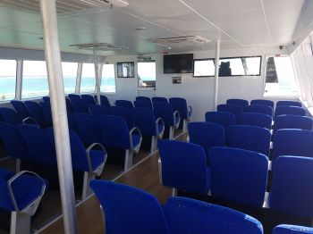 One of the air-conditioned cabins on Lady Caroline. Photo: VINO