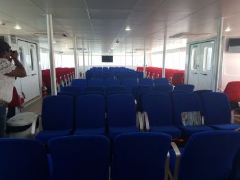 The main passenger cabin of Lady Caroline. Photo: VINO