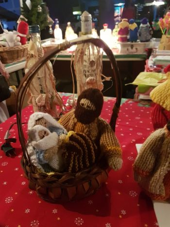 Handcrafted Nativity Scene by Judith's Crafts & Gifts. Photo: VINO