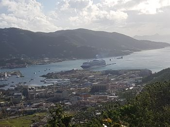 Marella Discovery is the first cruise ship to call to the Virgin Islands since Category 5 hurricanes Irma and Maria in September. Photo: VINO
