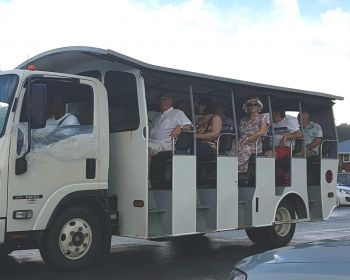 Passengers of Marella Discovery set off on a safari tour of Tortola today, December 6, 2017. Photo: VINO