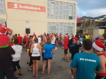 The Scotiabank 5K Charity Walk/Run on December 16, 2017 was well supported. Photo: VINO