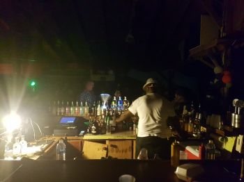It was a busy night for the barmen at Captain Mulligan's. Photo: VINO