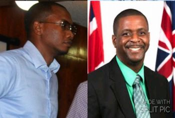 Jeremy W. Hodge, left, the son of the late Omar W. Hodge, and Opposition Leader Hon Andrew A. Fahie (R1), right. were two of the guests on Honestly Speaking on January 16, 2018. Photo: Provided