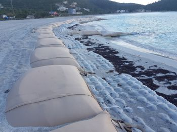 The development of the Brandywine Bay beach is a project spearheaded by Deputy Premier and Minister for Natural Resources and Labour Dr The Honourable Kedrick D. Pickering (R7). Photo: VINO