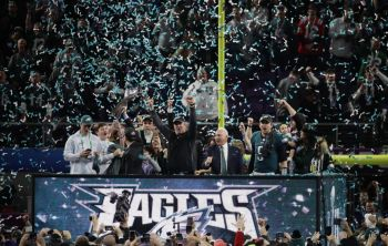 Philadelphia Eagles celebrate their historic win over New England Patriots at Super Bowl LII on February 4, 2018. Photo: Internet Source