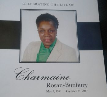 Former magistrate and Attorney Mrs Charmaine R. Rosan-Bunbury, 46, died on December 31, 2017. Photo: Team of Reporters