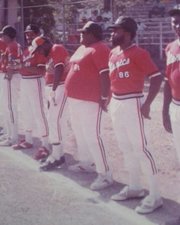 The late Mr David E. Fahie was a member of three softball teams, including Atomics. Photo: Team of Reporters