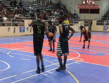 Killven M. Samuel takes to the free-throw line for Team BVI against the USA on July 20, 2018. Photo: Team of Reporters