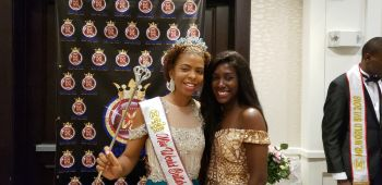 2017 Miss World BVI Helena A. Hewlett, right, and 2018 Miss World BVI Yadali Thomas-Santos. Photo: VINO