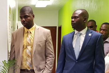 Minister for Education, Culture, Youth Affairs, Fisheries and Agriculture, Dr The Honourable Natalio D. Wheatley (R7), left, and Minister for Transportation, Works and Utilities, Hon Kye M. Rymer (R5) have already served their 3-month terms as Deputy Premier. Photo: VINO/File