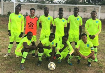 Even new uniforms could not save Sea Argo from a 4-nil defeat to Lion Heart on Virgin Gorda on Sunday September 15, 2019. Photo: Team of Reporters