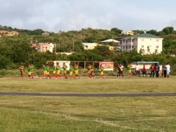 Debutants Lion Heart warm up for their match against Sea Argo. Photo: Team of Reporters