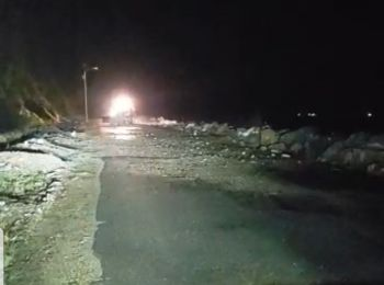 Public Works Department (PWD) clearing the road to West End, Tortola, early this morning, September 25, 2019. Photo: Team of Reporters