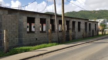 The incomplete building belonging to the local group Heritage Dancers is located on Station Road next to the 1780 Lower Estate Sugar Works Museum. Photo: VINO