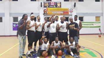 Pure Playaz are overjoyed winning the 2019 Hon Julian Fraser Save the Seed National Basketball League. Photo: VINO