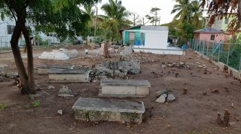 The O'Neal Burial Ground is situated across from the Delta Gas Station on Virgin Gorda. Photo:VINO