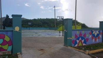 The West End Basketball Court was recently refurbished. Photo: VINO