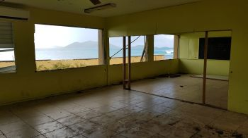 The Isabella Morris Primary school in Carrot Bay was heavily damaged by the hurricanes of September 2017. Photo: VINO