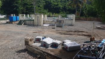 The first phase of works on the Cane Garden Bay sewerage network is the procurement, assembly, installation and commissioning of a new Waste Water Treatment Plant that will treat all sewerage within the Cane Garden Bay area. Photo: VINO