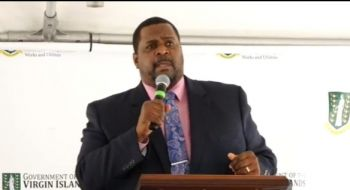 Premier and Minister of Finance Honourable Andrew A. Fahie (R1) has stated that the cost for the 100 palm trees was below $100,000. Photo: Facebook