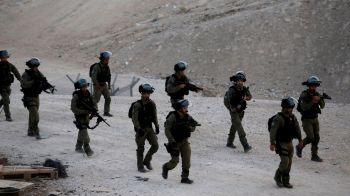 Israeli forces removed shacks close to Khan al-Ahmar village. Photo: Reuters