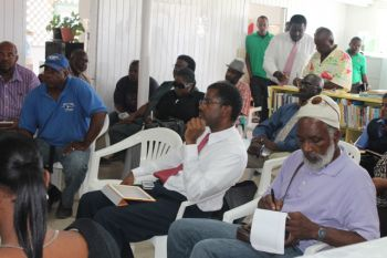 The meeting was held at the Anegada Community Library. Photo: VINO