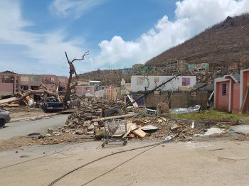 The Virgin Islands was devastated by Hurricane Irma on September 6, 2017 and is now seeking loans to continue the rebuilding of the territory. The United Kingdom, the Mother Country, is only providing loan guarantees but is asking the VI to surrender some amount of financial control, which the VI Government is resisting. Photo: VINO/File