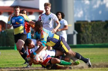 The Virgin Islands ended their day's work at the Rugby Americas North (RAN) Sevens tournament in Mexico with a win against Curacao on November 25, 2017. Photo: RugbyAmericasNorth