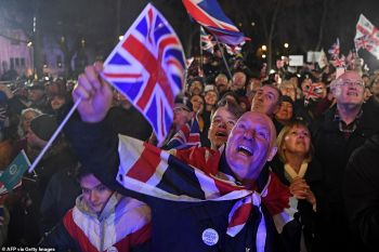 Jubilant Brexiteers heralded the moment with celebrations across the country, including a flagship bash in London's Parliament Square back in January 31, 2020. Ties with the EU were officially severed on December 31, 2020 Photo: Peter Macdiarmid/LNP