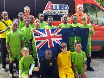 The National U12 team was transported around Puerto Rico by Allied Car and Truck Rental. Photo: Facebook