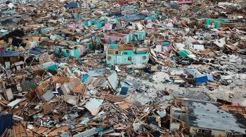 The latest category 5 storm, Hurricane Dorian ravaged the Bahamas with as much as 20 deaths reported. Photo: Internet Source