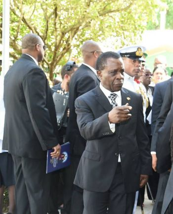Prime Minister of Grenada Dr Keith C. Mitchell at the funeral of the late Trinidad and Tobago Prime Minister Patrick A.M. Manning. Photo: caricom.org