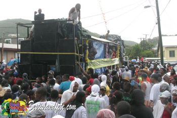 Band members, including Mr Antonio Tuckett, want the Rise and Shine for Festival to return to the days when the procession started in groups and converged in one area in Road Town. Photo: Provided