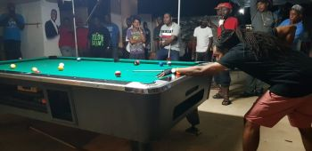 Jason Callwood of Tortola placed at the 2nd annual Kenroy C. Millington Memorial Pool Tournament in Virgin Gorda on May 5, 2019. Photo: Provided