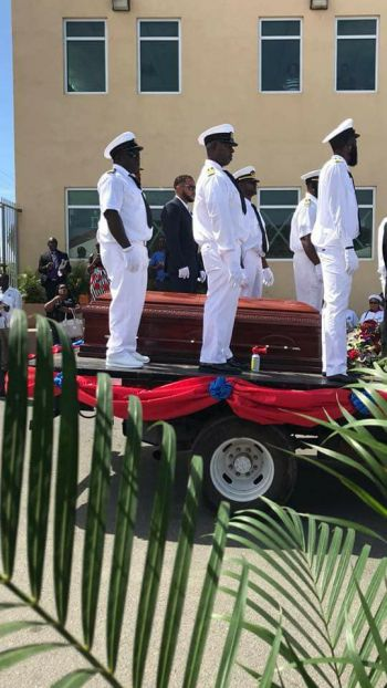Fitting sendoff for businessman and inter-island transportation pioneer, the late Captain Edwin A. George aka Speedy/Kiddo on April 14, 2018. Photo: Team of Reporters